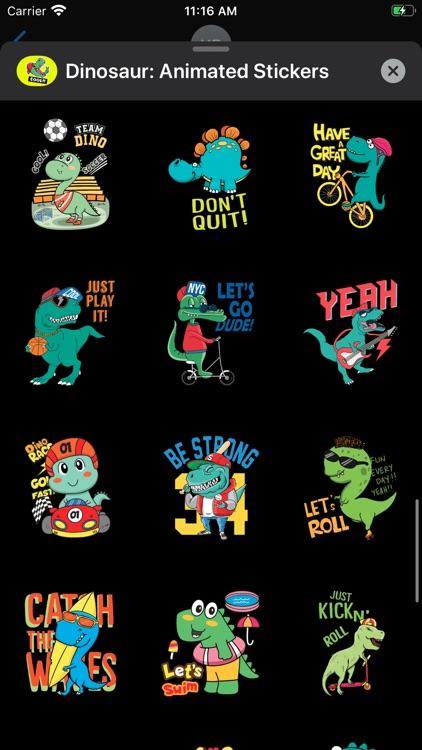 Dinosaur: Animated Stickers screenshot-6