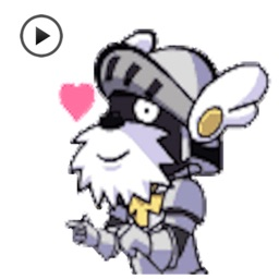 Cute Schnauzer Dog Knight