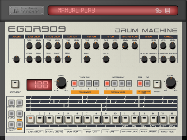 ‎EGDR909 - 909 Drum Machine Screenshot