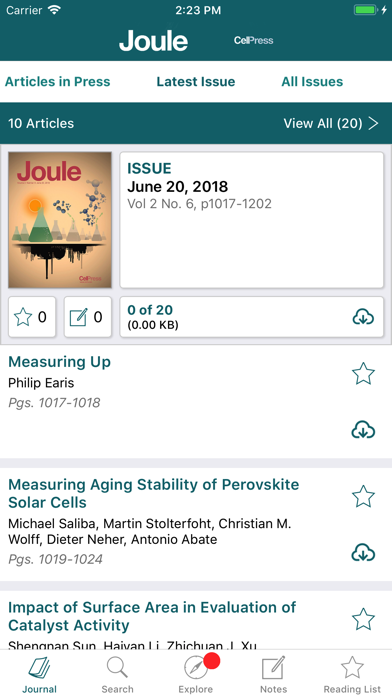Joule Reader screenshot 2