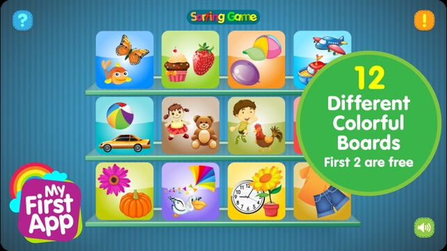 Ipad Games For Toddlers >> Sorting Game For Preschool Kid On The App Store