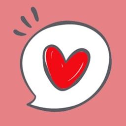 Autocollants coeur et emoji x