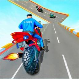 Police Bike Rider Stunt Game