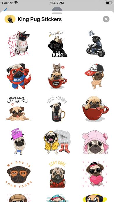King Pug Stickers screenshot 3