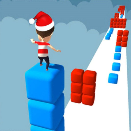 Cube Stacker Surfer 3D Run