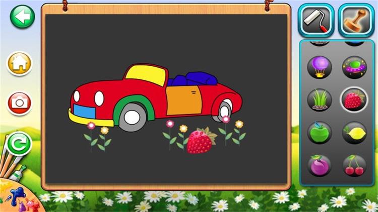 画画游戏 - 女生涂色填色画板