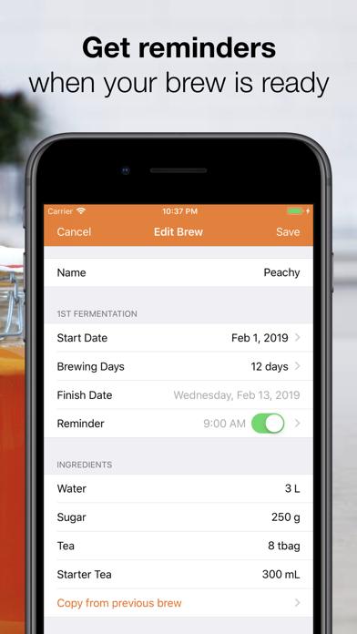KombuchApp – Kombucha Tracker Screenshot