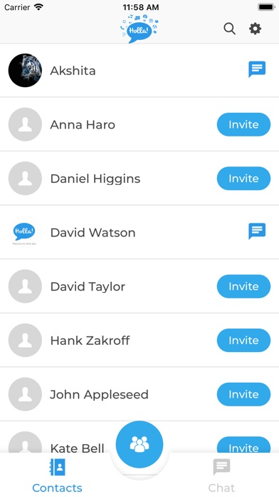 Screenshot for Holla Chat App in United States App Store
