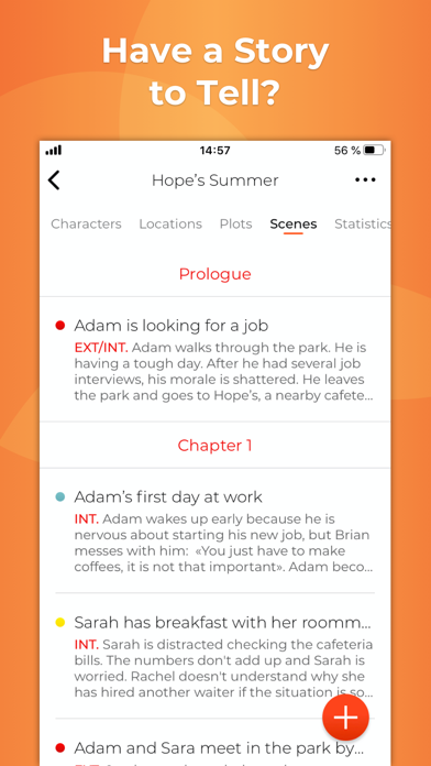 Story Planner for Writers screenshot