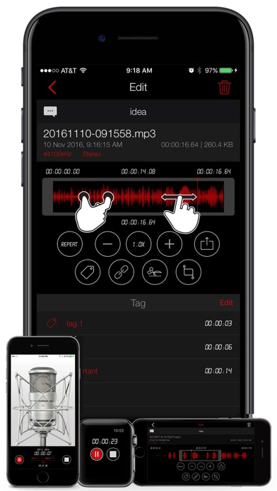Screenshot for Awesome Voice Recorder PRO AVR in Pakistan App Store