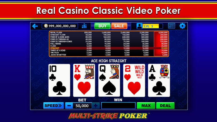 Multi-Strike Video Poker