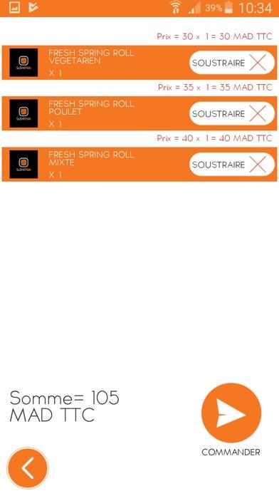 Screenshot of SUSHI THAI App