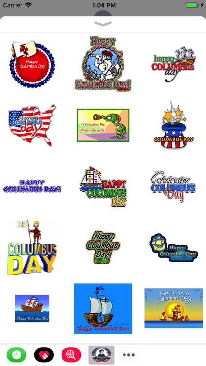 Columbus Day GIF Stickers 2017