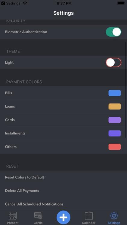Memento-smart payment reminder screenshot-8