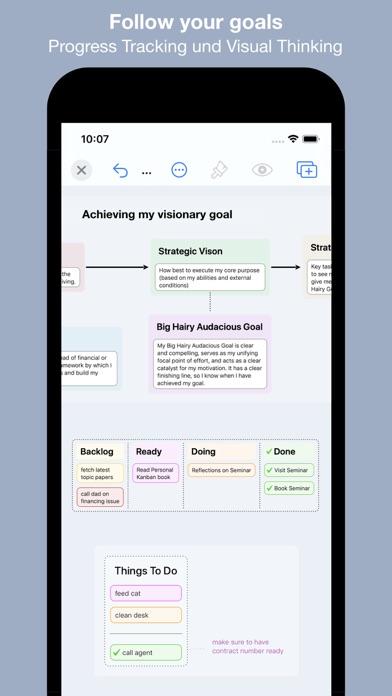 Screenshot of BigHairyGoal – mindmap todo2