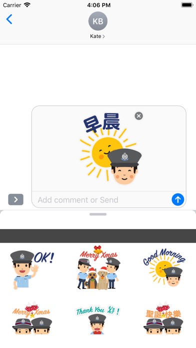 Screenshot for Hong Kong Police Stickers in United States App Store