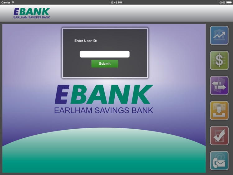 EBANK Mobile for iPad