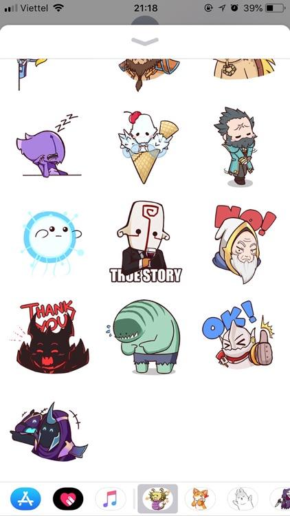 Dota Pun Emoji Funny Stickers