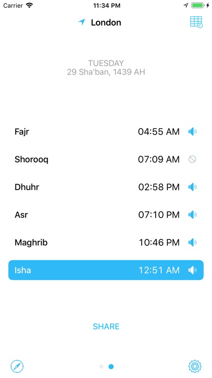 mySalah — Prayer Times & Qibla