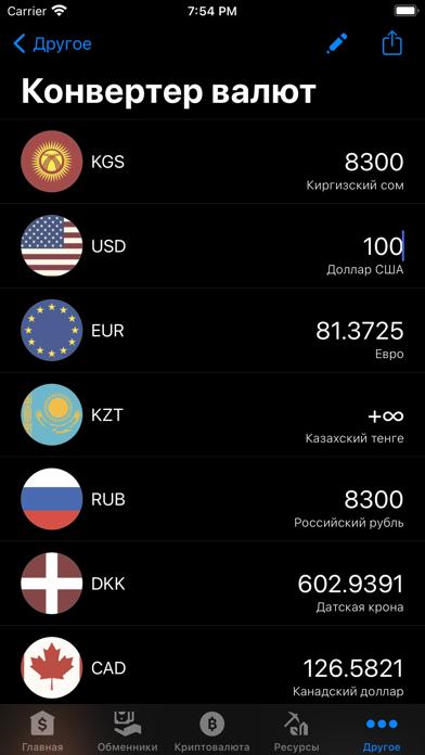Курсы валют КиргизииСкриншоты 4