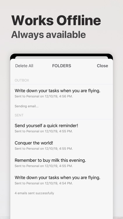 Email Me - Notes in your inbox screenshot-6
