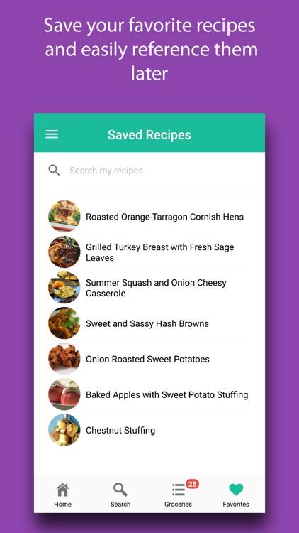 Thanksgiving Recipes & Meals screenshot-5