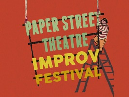 Send your friends stickers to celebrate Paper Street Theatre's 4th Annual Improv Festival