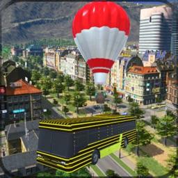 Flying Air Balloon Bus