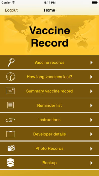 Vaccine Record for Travellers