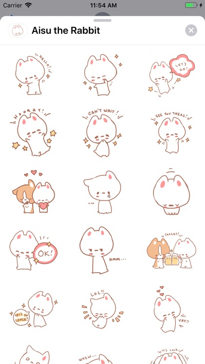 Aisu the Rabbit Stickers