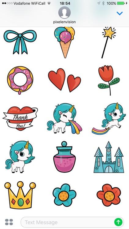 Animated Unicorn Stickers