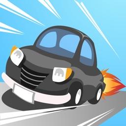 ただいま逃走中!  鬼ドリフトのニトロ車でかわす警察!