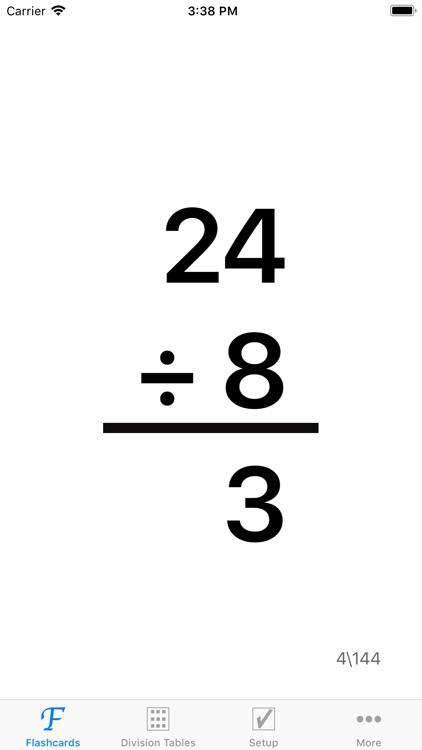 Math Division Flashcards screenshot-4