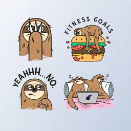 SlothMoji - Sloth Stickers