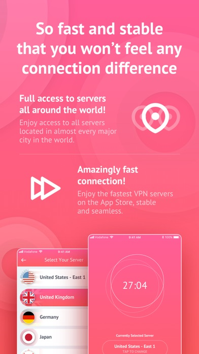 Unlimited Tor VPN for iPhone Screenshot on iOS