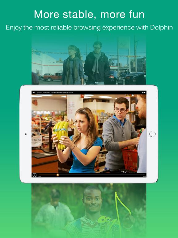 Dolphin Web Browser for iPad iPad app afbeelding 2