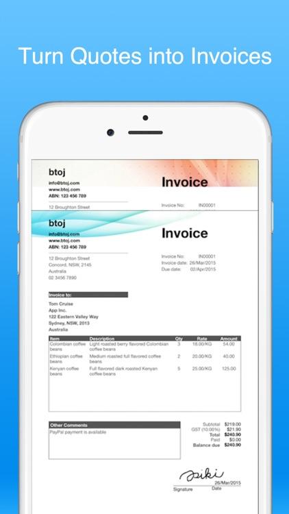 Job Quote Maker - Invoice +