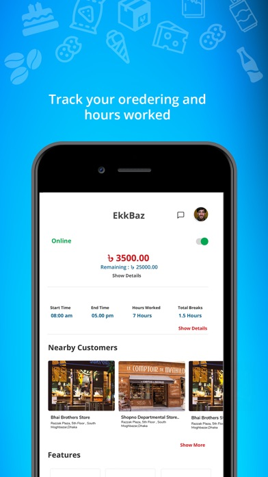 Screenshot for EkkBaz - Order, Tracking, Chat in United States App Store
