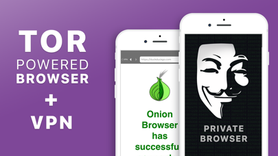 Private TOR + VPN Browser Screenshot