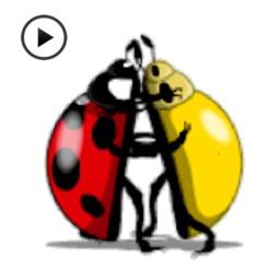 Animated Funny Ladybug Sticker