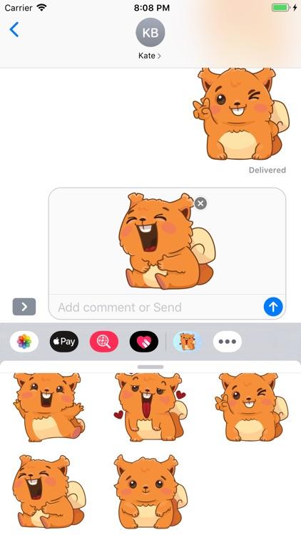 Squirrel emoji Stickers screenshot-3