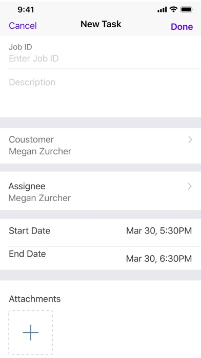 Screenshot for Field Servicing App - TaskCare in United States App Store