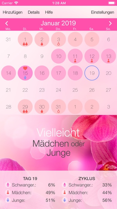 Screenshot for Fruchtbarkeitskalender in Germany App Store