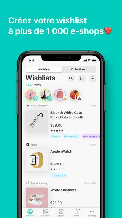 Screenshot #1 pour WishUpon - Wishlist Shopping