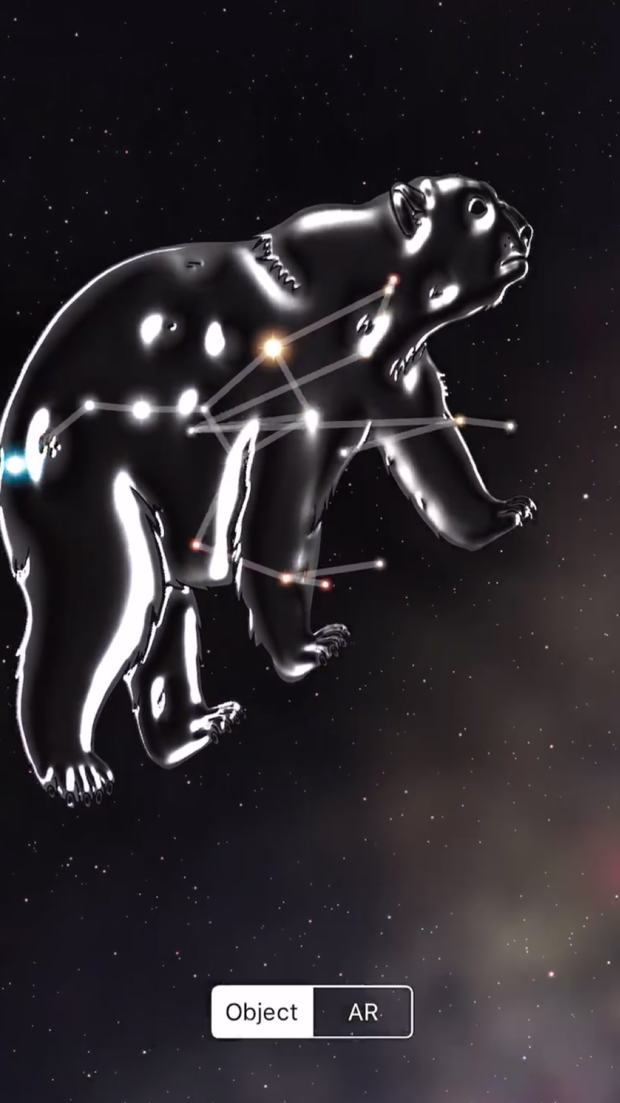 Screenshot do app Night Sky