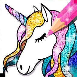 Unicorn Coloring Book Sparkle