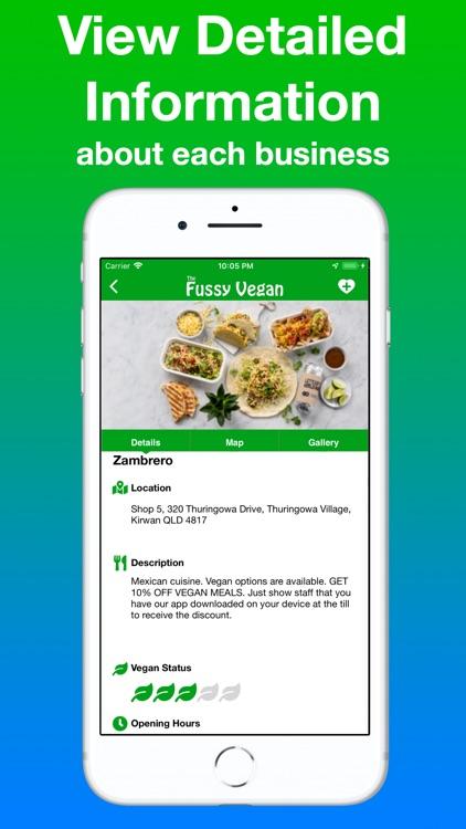 Fussy Vegan Food Finder