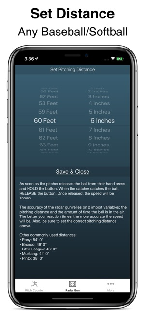Pitch Counter & Radar Gun on the App Store