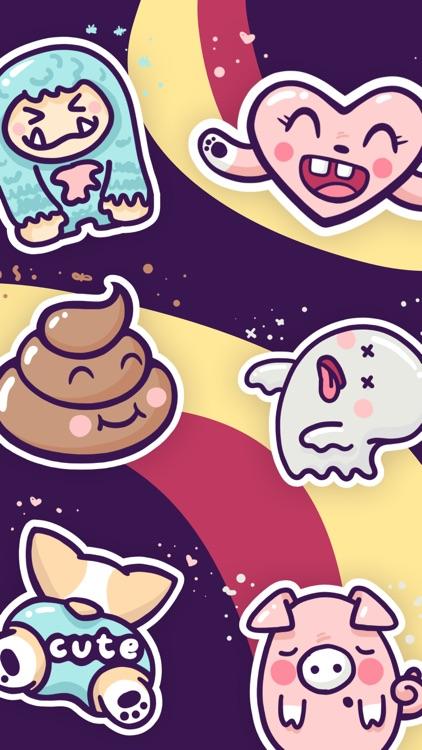 Enjoy the Cuteness Stickers