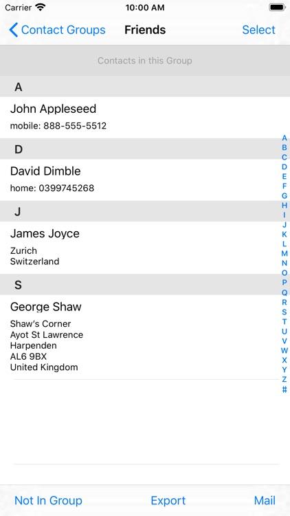 Contact Groups screenshot-3